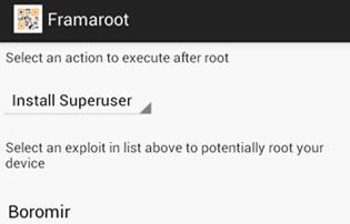 Framaroot-Exploits